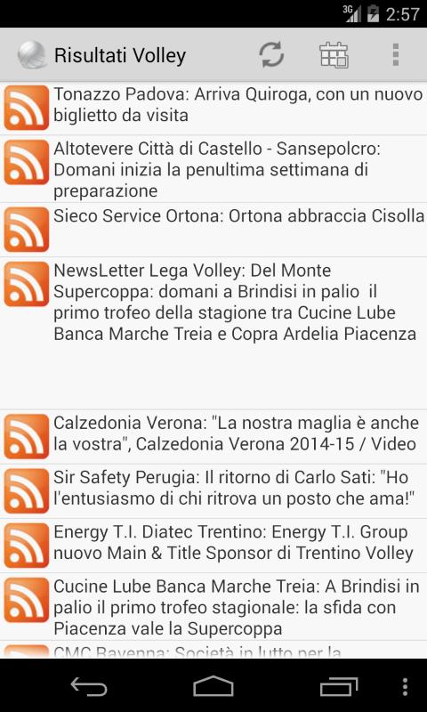 Risultati Volley - Diego Mancinelli